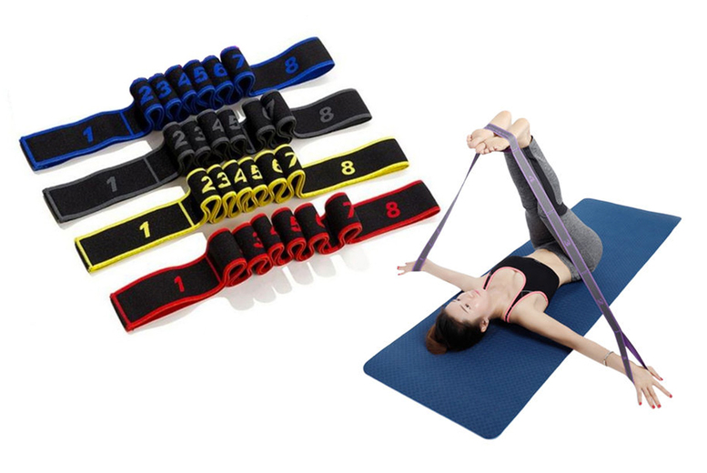 £4.99 instead of £24.99 (from CN Direct Biz) for one yoga resistance band, £16.99 for five bands – choose from four colours and save up to 80%