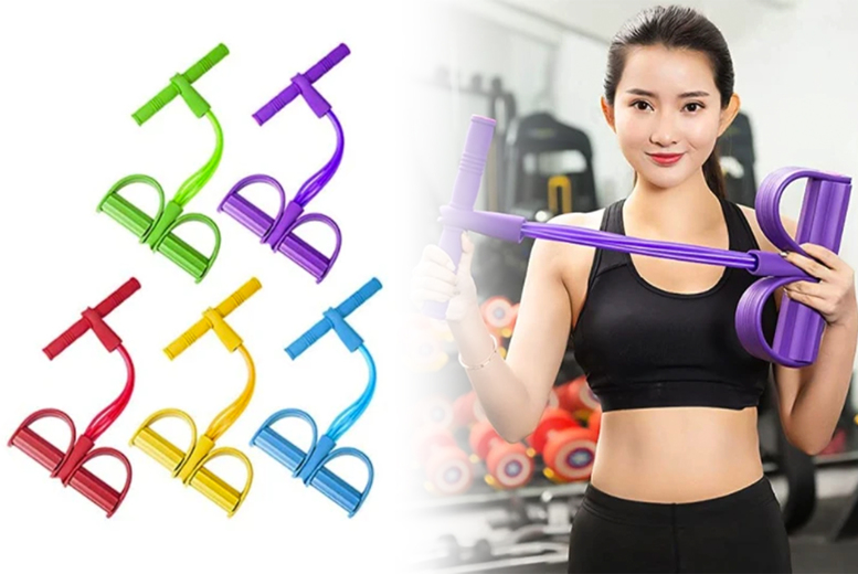 £6.99 instead of £39.99 (from Magic Trend) for a four-tube elastic sit-up pull rope - save 83%