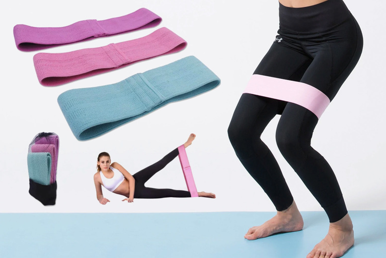 £8.99 instead of £38.99 for a pack of three fabric resistance bands from Magic Trend - save 77%