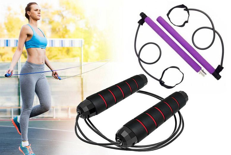 £3.99 instead of £26 for a skipping rope, £12.99 for an exercise bar or £19.99 for a stay fit bundle from Arther Gold - save up to 85%